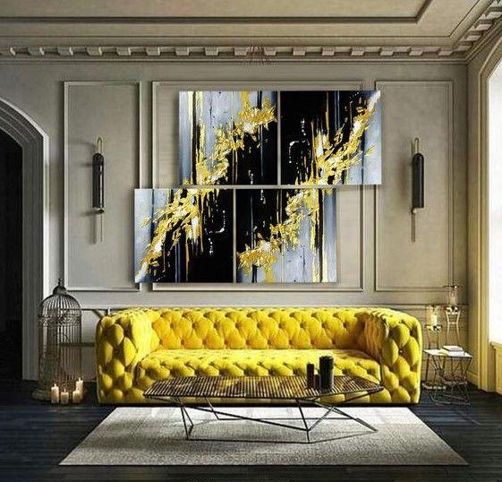 Дизайн интерьера гостиной комнаты фото с желтой мебелью ...