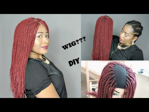 How To Make A Twist Wig Without Lace Frontal Xtrend Hair Youtube Diy Wig Wigs Crochet Braids Hairstyles