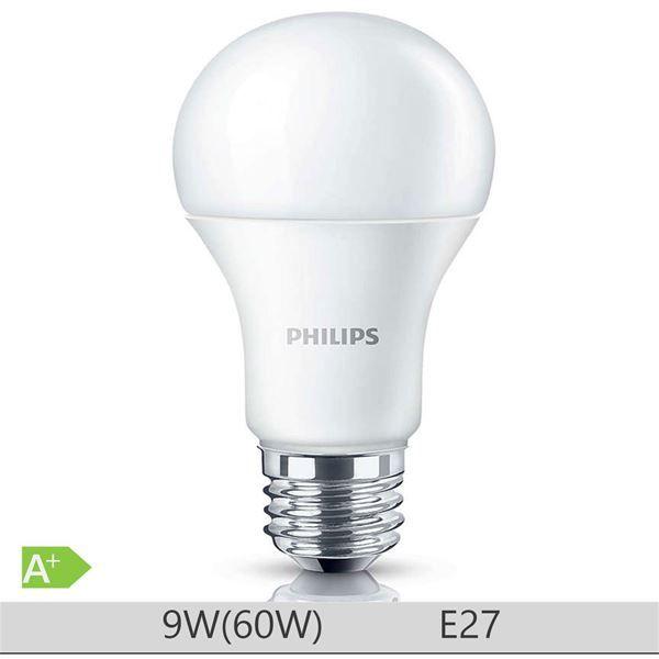 Bec LED Philips 9W E27 forma clasica A60, lumina rece http://www.etbm.ro/becuri-led