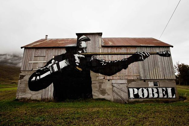 POBEL _ Outdoor Mural _ Lofoten, Norway
