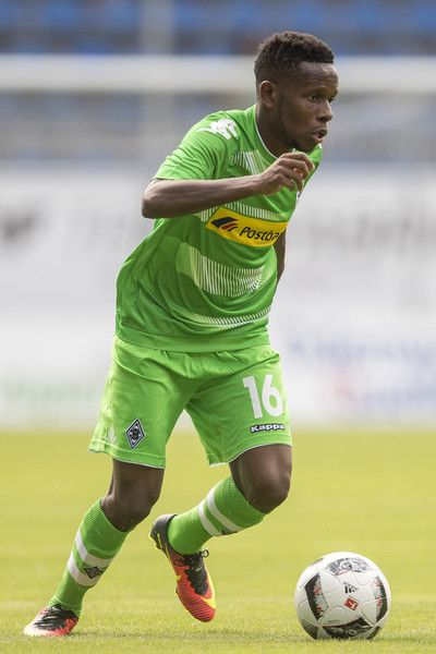 Ibrahima Traore of Borussia Moenchengladbach during the friendly match between SV Waldhof Mannheim and Borussia Moenchengladbach at Carl-Benz Stadium on July 9, 2016 in Mannheim, Germany.