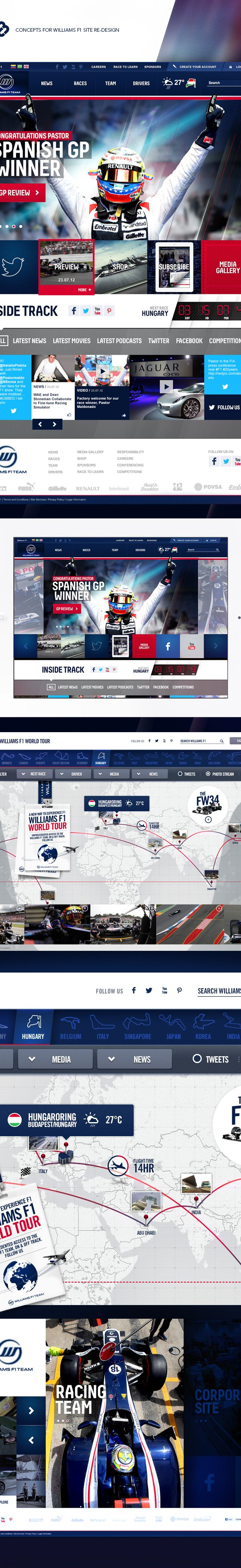 Williams F1 Concept Site Design by Andrew Edwards, via Behance