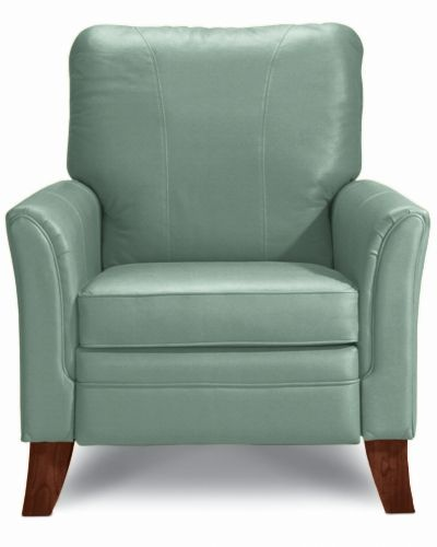 Riley High Leg Recliner by La-Z-Boy.  I have two of these chairs in buttercream yellow.  Most comfortable chair ever!!  Pretty