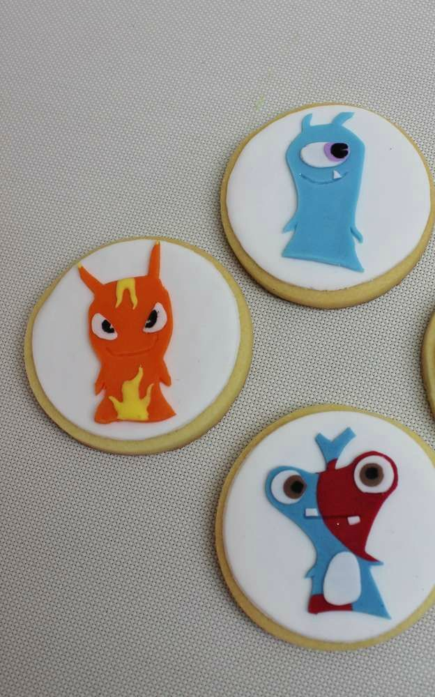 Slugterra Birthday Party cookies! See more party planning ideas at CatchMyParty.com!