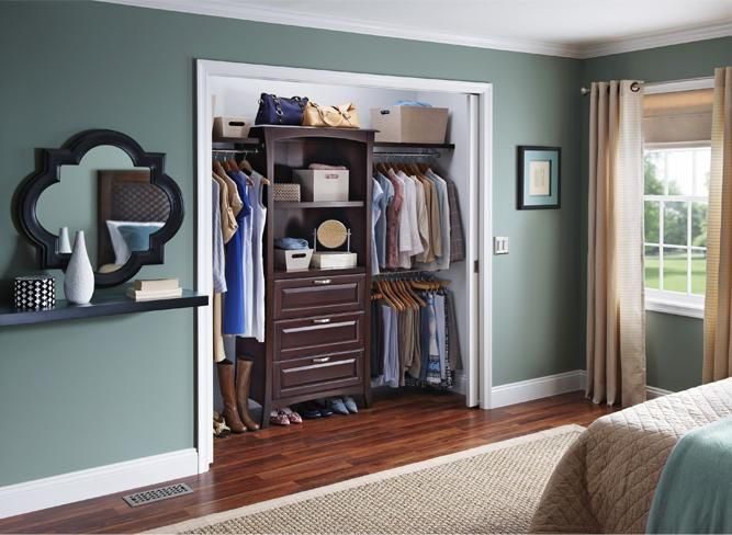 Modern Bedroom Allen Roth Closet Organizer 667x488
