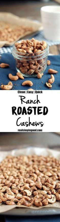 A simple snack to have on hand for a party or for a quick snack, these ranch roasted cashews are easy to make and won't last long! Paleo, clean, and easy!