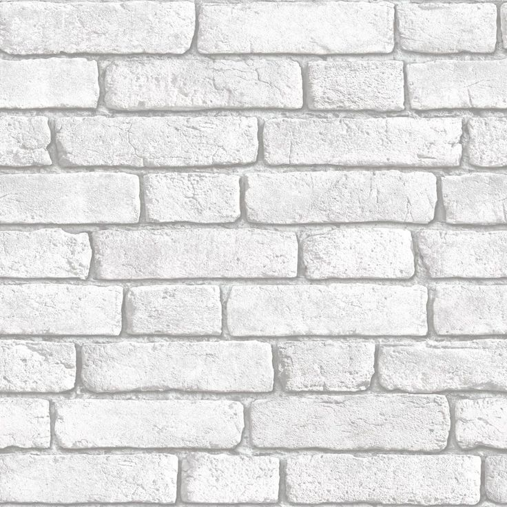 Muriva Brick Vinyl White Wallpaper | Departments | DIY at B&Q (Feature wall in living room?)