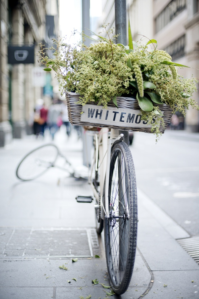 Whitemoss bicycle on Flinders Lane, Melbourne © Natasha Calhoun