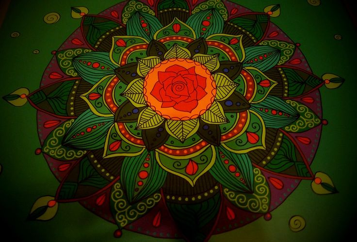 Rose mandala on bedside table by Luiza Poreda, for Art Popo