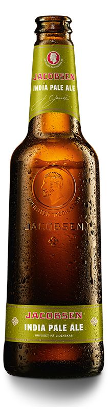 Jacobsen India Pale Ale er baseret på den klassiske engelske India Pale Ale fra det 19. århundrede. En særligt velhumlet øltype, der tålte rejsen over havet til kolonisterne i Indien. Maltsødme og lang efterbitterhed De anvendte humlesorter East Kent Goldings og Fuggles giver øllet en frisk sprødhed, der passer særdeles godt til den næsten slikagtige maltsødme og desuden bidrager med en lang blød efterbitterhed.