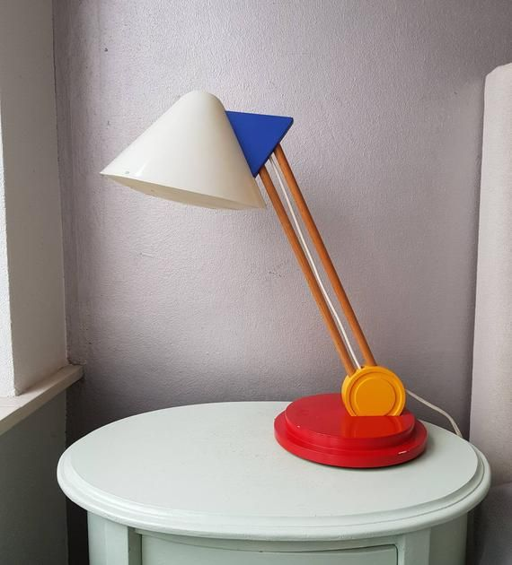 Vintage Ikea Design Desk Lamp Years 80 In Memphis Style Ettore Sottsass In 2020 Ikea Design Memphis Design Interior Desk Design
