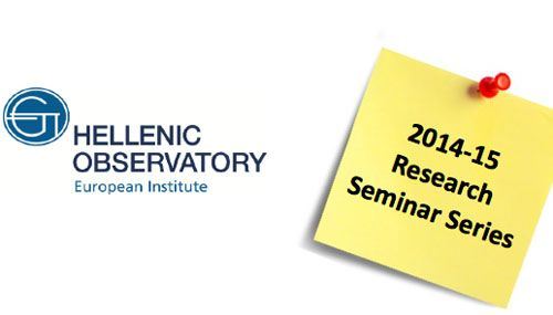 The Restructuring of the GreekEconomy: 2010-2014 Tuesday 3 February 2015 18.00-19.30 | @ Cowdray House European Institute, LSE 2014-15 ResearchSeminar Series