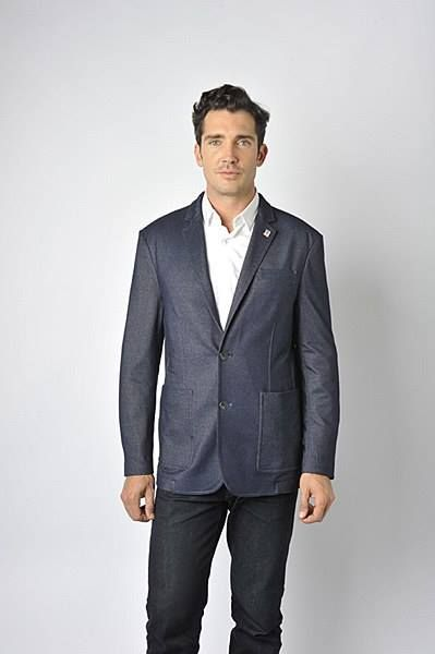 New to London's Big and Tall Menswear! Luchiano Visconti Denim Sport Coat.