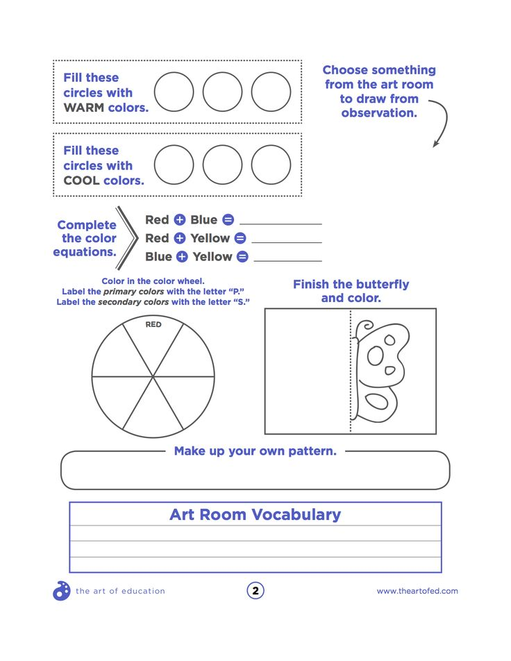 Kinds Of Lines In Art And Its Meaning : Worksheets color wheel for high school best