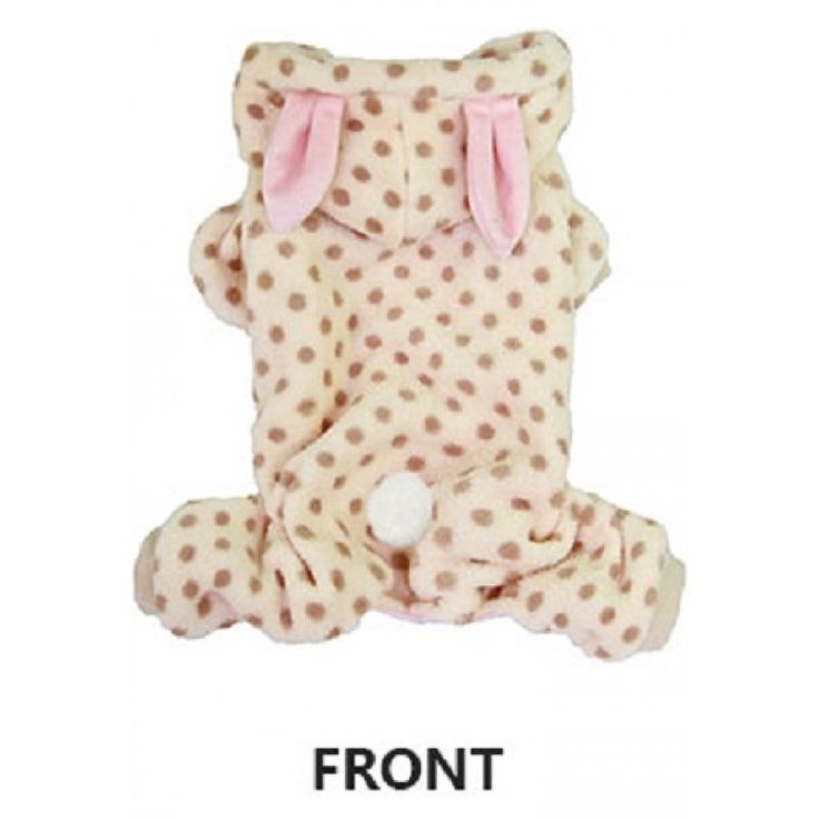 Rabbit soft dog onesie in beige