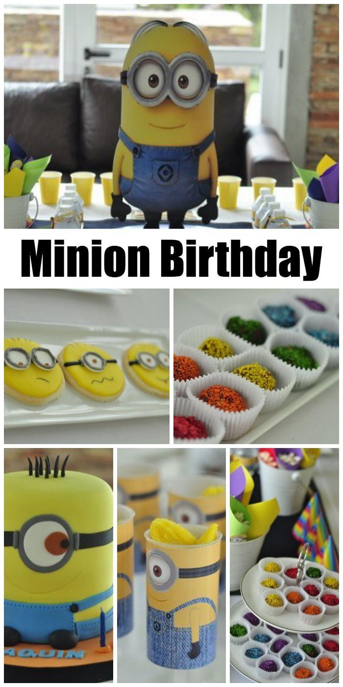 Fun Minion Despicable Me birthday party ideas! See more party ideas at CatchMyParty.com. #minions #boybirthday #birthdaycake