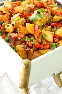 Spicy Middle Eastern Roasted Potatoes - Batata Harra | She's Cookin' | food and travel
