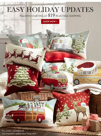 Love these holiday pillows! http://rstyle.me/n/c9gd9nyg6                                                                                                                                                     More