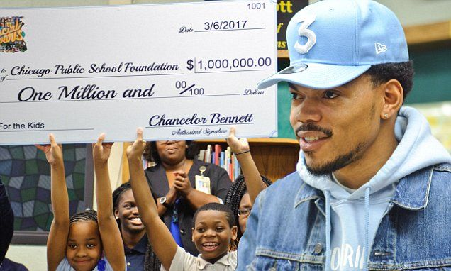 ILLINOIS... Chance The Rapper to donate $1 million to CPS   Daily Mail Online