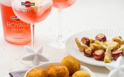 Arancini à la Truffe pour un Apéritif Italien de fête avec Martini Royale!