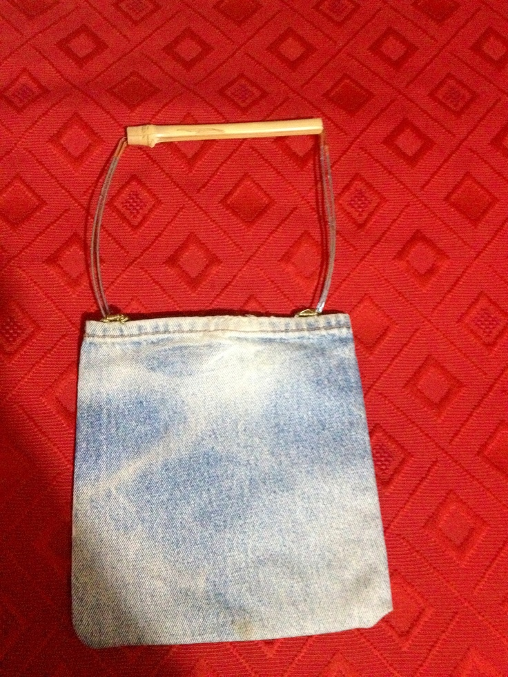 Jeans, bamboo, perline