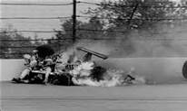 Danny Ongais's horrible crash at Indy; he was lucky to survive.