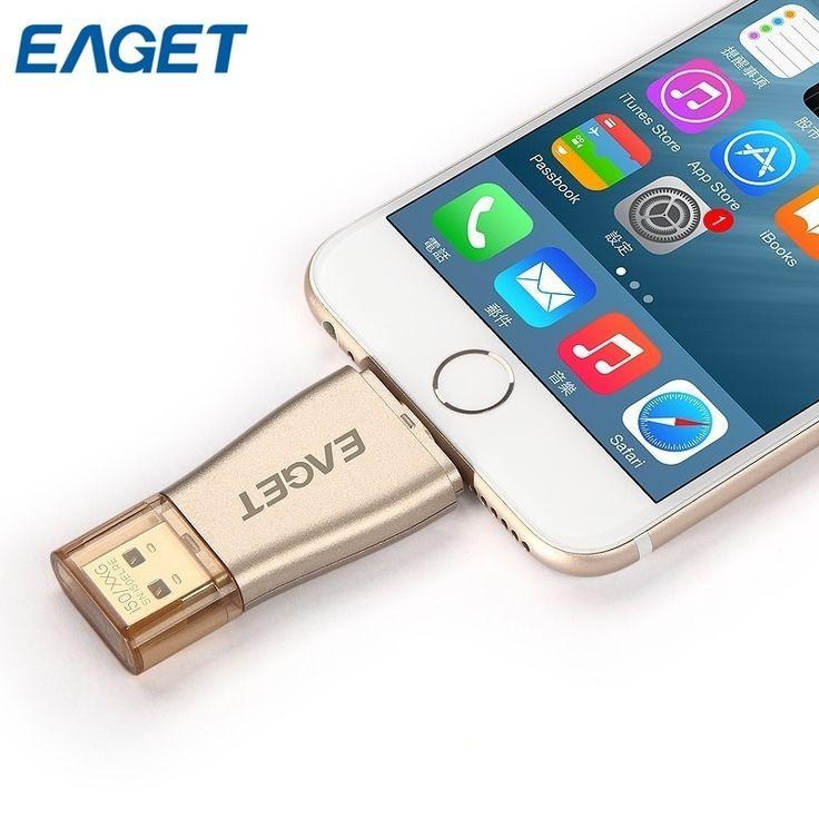 Eaget i50 MFi Certified USB 3.0 Pendrive OTG USB Flash Drive 32GB 64GB 128GB USB Stick 64g USB Pen Drives for iPhone iPad IOS //Price: $84.59      #sale