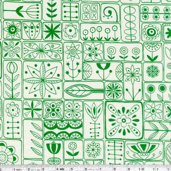Cool retro Scandinavian print fabric!    Via Lucie Summers & Superbuzzy