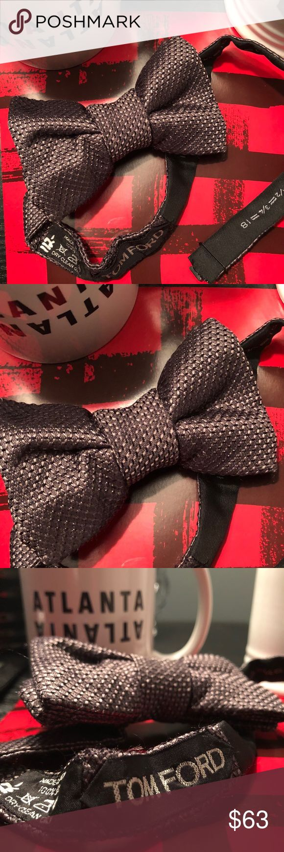 """Tom Ford Bow Tie All items in my closet are 100% Authentic. This is a great bow tie you can never go wrong with a dark """"black"""" bow tie matches with everything. Tom Ford is one of the best designer brands & one of my favorite. No cleaner look! Ask any questions you may have thanks! Tom Ford Accessories Ties"""