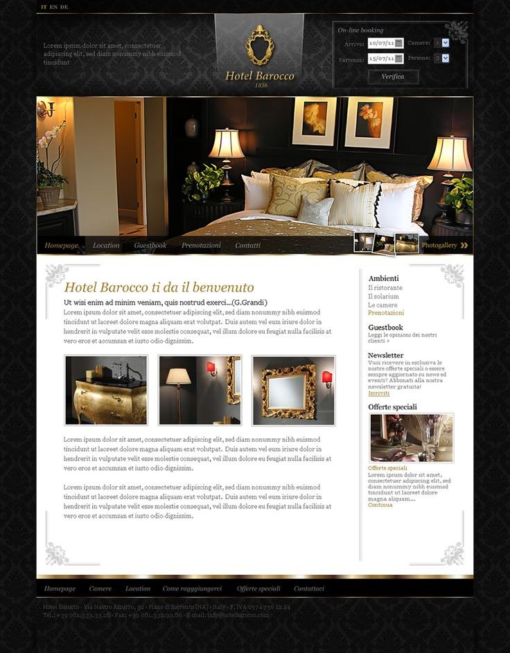 Hotel Barocco - Web Design by Anna Maria - GoAnna Designs