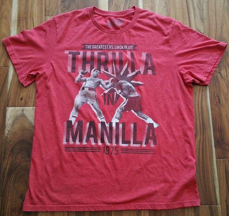 Thrilla In Manilla 1975 Muhammad Ali Smokin Joe Frazier Boxing T-Shirt Men's XL #OldNavy #GraphicTee
