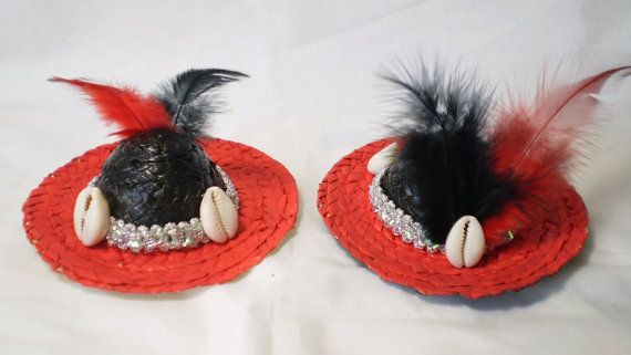 Black and Red Little Hat for Elegua Santeria Ifa by OshaDesigns