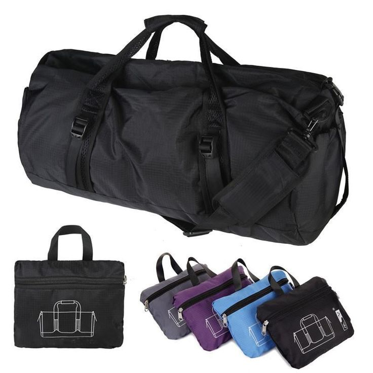 Women Foldable Nylon Portable Bag  Single Shoulder Cylindrical Gym/Sport Bag