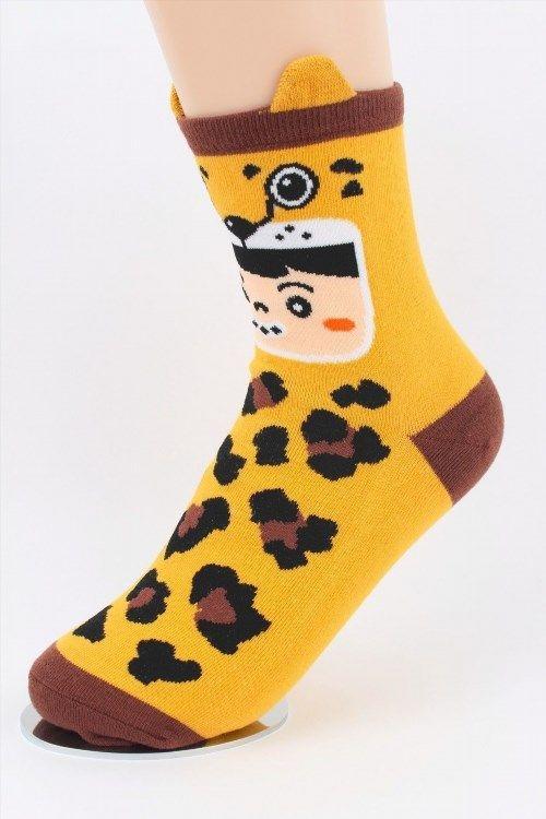 3.95$  Buy now - http://viqfs.justgood.pw/vig/item.php?t=swmhx931888 - Women Animal Socks Fashion Korean Character Printed Style 6-9