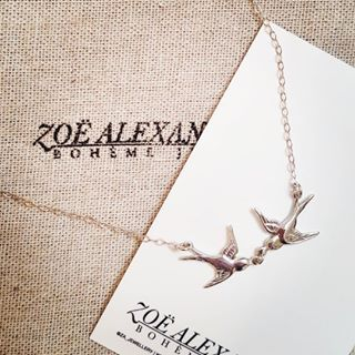 A special little commission piece off to it's forever home today 🕊 So exciting to have been part of this story 💕  #zoealexandria #bohemejewels #swallows #commission #custompiece #necklace #silver #madewithlove #jewellerymaker