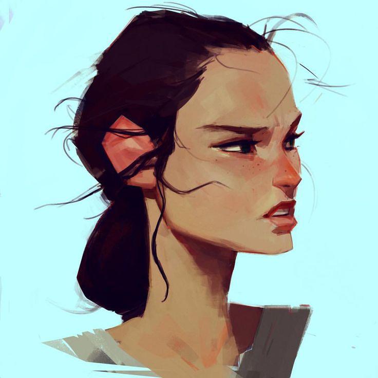 """Samuelyounart, """"A sketch of Rey"""""""