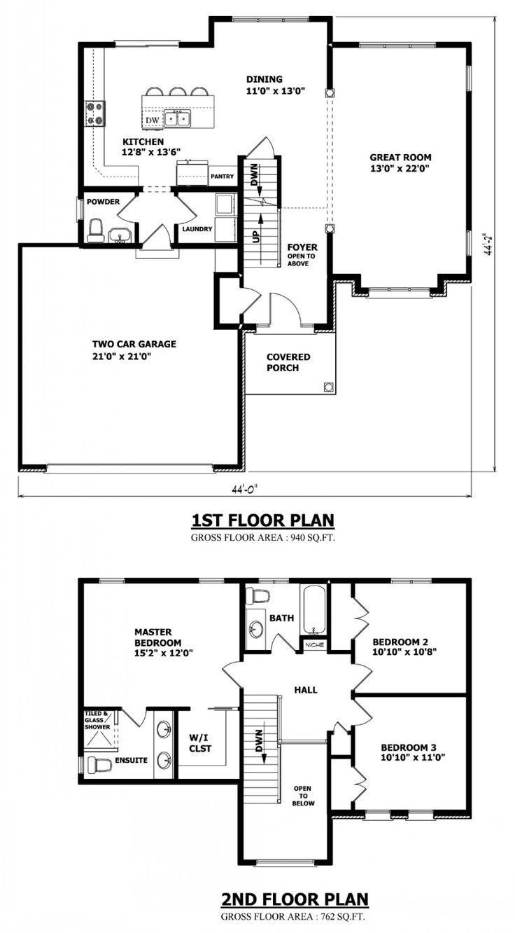 Simple house plan with 2 bedrooms and garage - Best 25 Two Story Homes Ideas On Pinterest 2 Story Homes Two Story Houses And Square Floor Plans