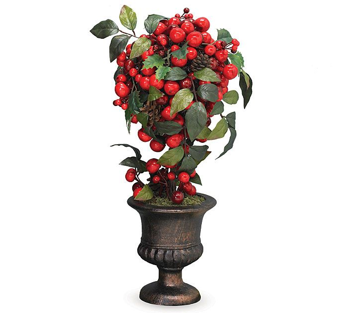 Fall Berry Centerpiece : Fall topiary centerpieces ct winter berry