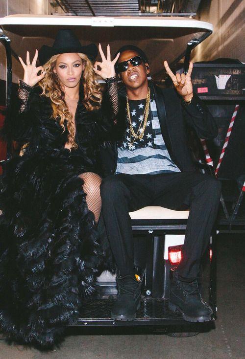 Beyonce and Jay-Z - On The Run tour backstage.  Ughhh....