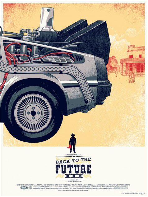 Un superbe triptyque des affiches de « Retour Vers le Futur »   golem13  