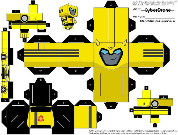 Cubee - Bumblebee 'Animated' by CyberDrone.deviantart.com on @deviantART