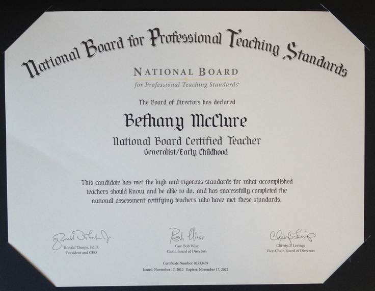 Best 25+ National board certification ideas on Pinterest - certification examples