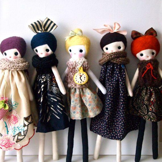 Lupin muñeca trapo trapo muñeca reliquia por JessQuinnSmallArt