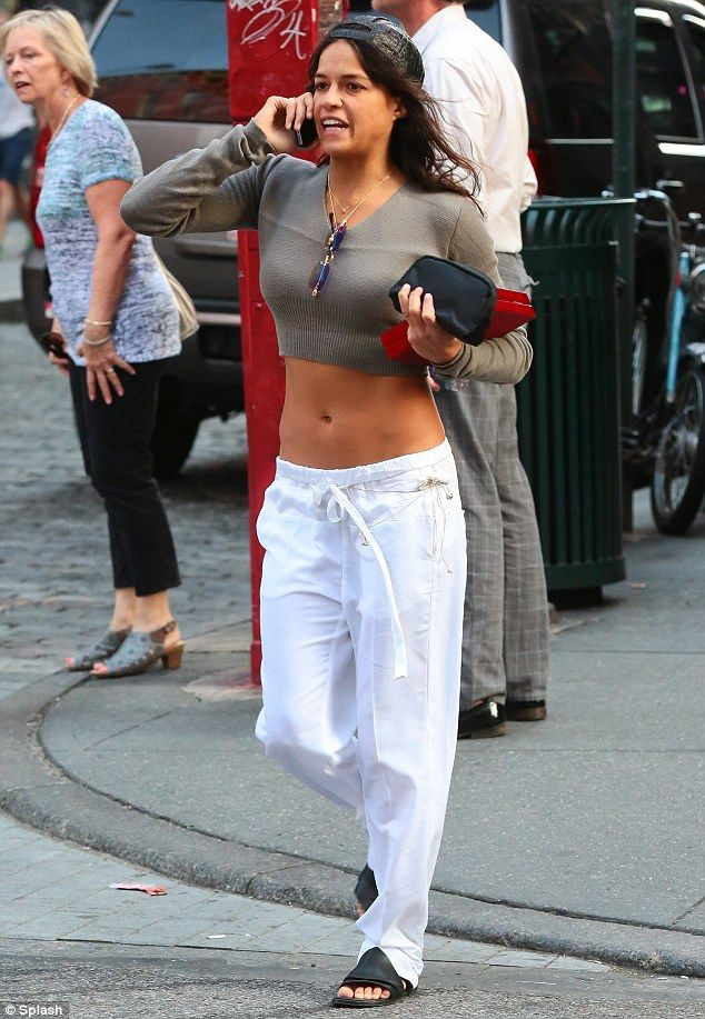 Are you looking, ex-boyfriend? Michelle Rodriguez strolled around New York City on Wednesd...