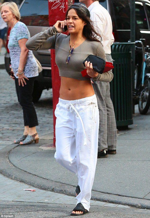 Are you looking, ex-boyfriend? Michelle Rodriguez strolled around New York City on Wednesd...