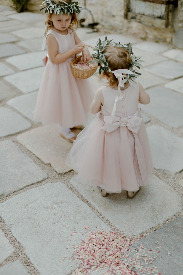 Two little angels in their flower girl dresses!