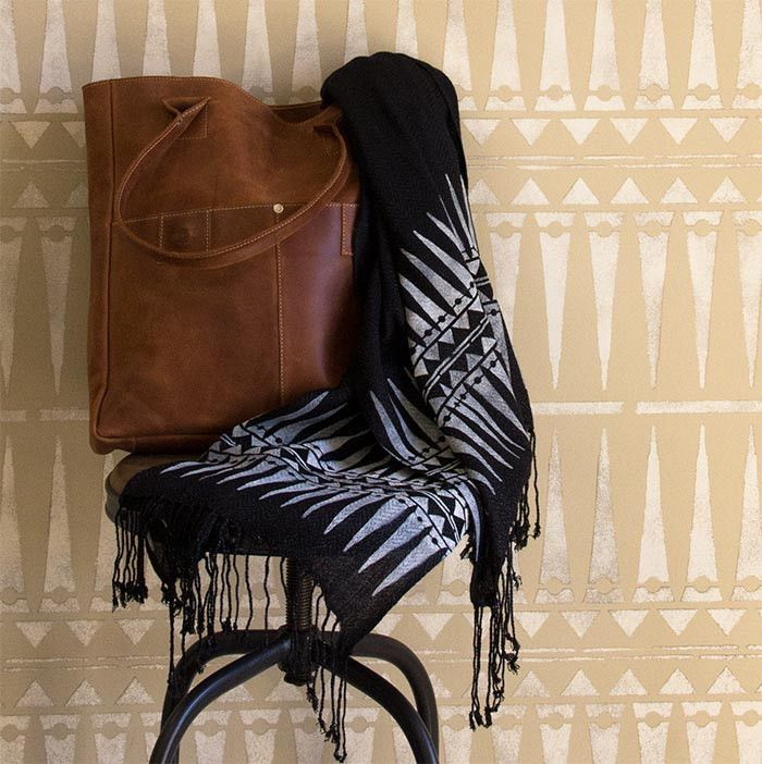 Tribal Raven + Lily Furniture Stencil