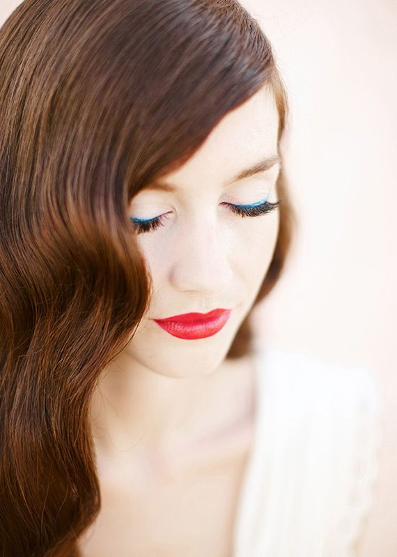 10 Stunning Wedding-Day Makeup Looks to Pin Now Red Lip ...