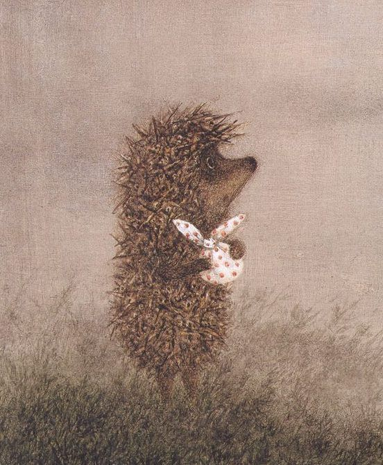 """From the book, """"The Hedgehog in the Fog,"""" illustrated by Francesca Yarbusova"""