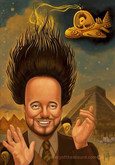 I want this on canvas!!! I love it so so much!!! Giorgio Tsoukalos from Ancient Aliens.